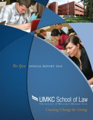 Creating Change by Giving Res Ipsa - UMKC School of Law ...