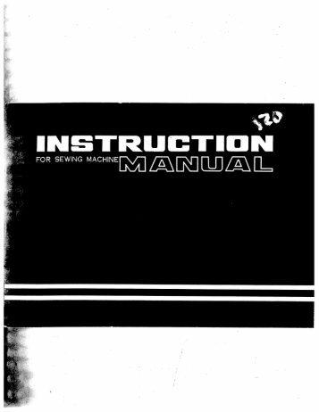Singer W120 - English - User Manual