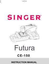 Singer CE-150   FUTURA™ - English, French, Spanish - User Manual