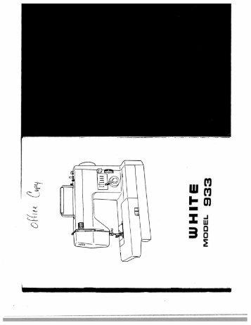 Singer W933 - English - User Manual