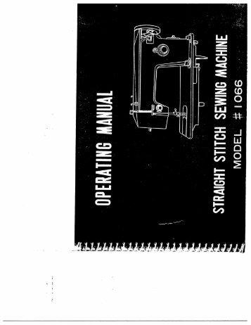 Singer W1066 (older model) - English - User Manual