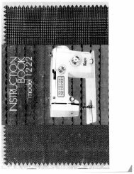 Singer W1222 - English - User Manual