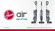 Hoover Reconditioned Air™ Cordless Series 1.0 Upright Vacuum - BH50100RM - Manual
