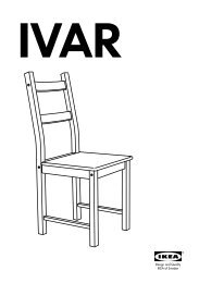 Need more space? By combining parts in the IVAR storage