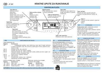 KitchenAid JT 357 BL - Microwave - JT 357 BL - Microwave HR (858735799490) Guide de consultation rapide