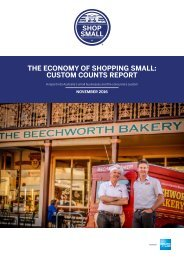THE ECONOMY OF SHOPPING SMALL CUSTOM COUNTS REPORT