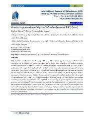 In vitro regeneration of niger (Guizotia abyssinica L.F.) Cass.) Tesfaye Disasa1,2*, Tileye Feyissa2, Kefle Dagne2