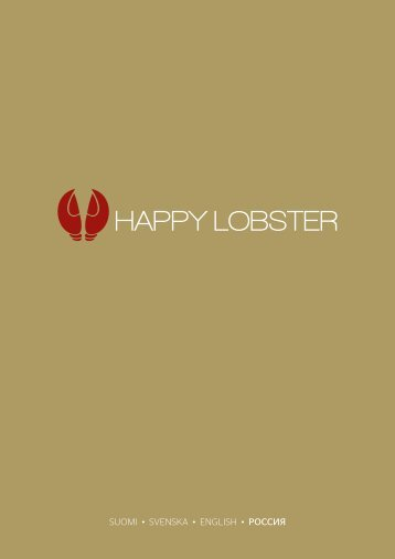 Happy Lobster menu, Galaxy ja Baltic Princess