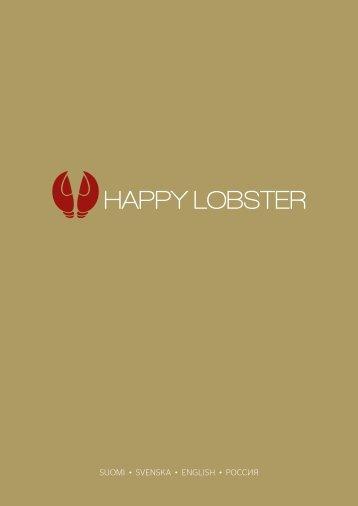 Happy Lobster menu Silja Symphony ja Silja Serenade