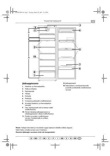 KitchenAid CFS NP1 - Refrigerator - CFS NP1 - Refrigerator FI (853939661000) Scheda programmi