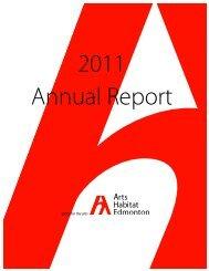 AGM Report 2011 - Arts Habitat