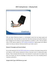 GPS Tracking Devices – A Buying Guide