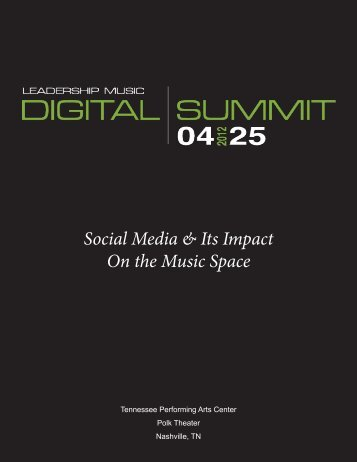 Social Media & Its Impact On The Music - Leadership Music Digital ...