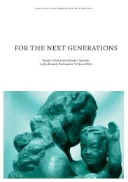 FOR THE NEXT GENERATIONS