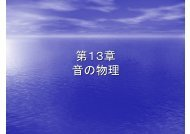 第 13 章 音 の 物 理