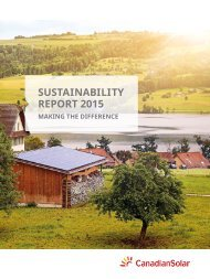 Canadian Solar - CSR Report 2015