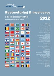 Restructuring & Insolvency 2012 - Graham Thompson