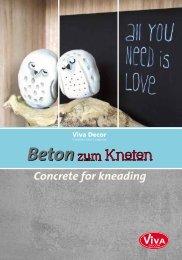 Beton zum Kneten / Concrete for kneading