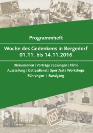 Programmheft Woche des Gedenkens in Bergedorf 01.11 bis 14.11.2016