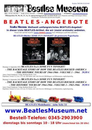 Beatles Museum - Katalog 68 mit Hyperlinks