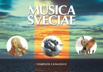 COMPLETE CATALOGUE - Kungl. Musikaliska akademien