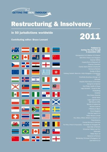 Restructuring & Insolvency - patton moreno & asvat
