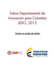 Índice Departamental de Innovación para Colombia (IDIC) 2015