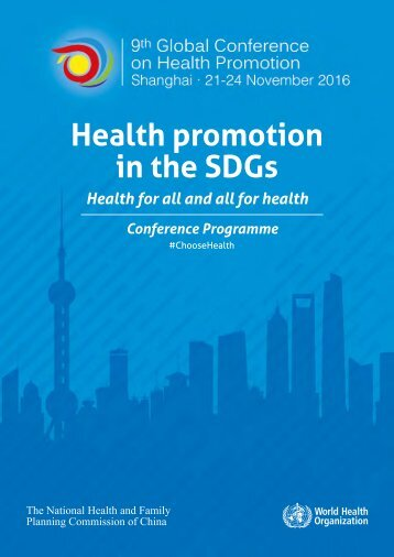 Health promotion in the SDGs