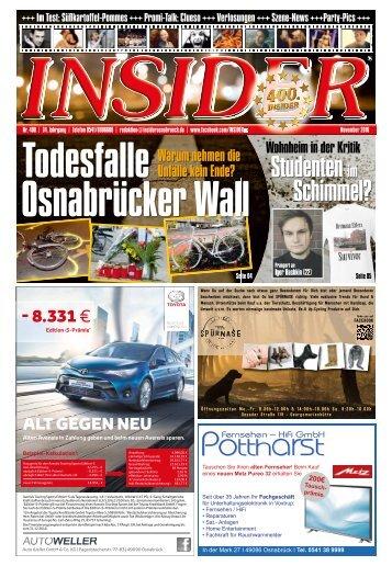 INSIDER Osnabrück // November 2016 // No. 400