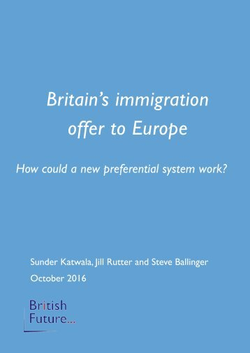 Britain's immigration offer to Europe