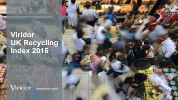 Viridor UK Recycling Index 2016