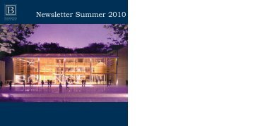 Newsletter Summer 2010 - the Benenden School Trust