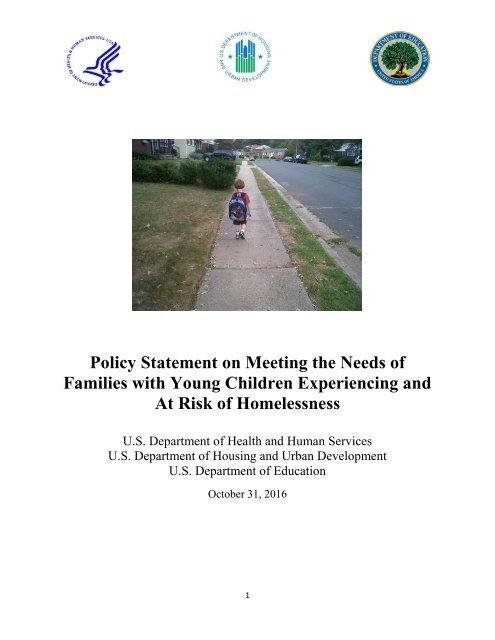 Families with Young Children Experiencing and At Risk of Homelessness