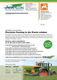Precision Farming in der Praxis erleben - Agri Con GmbH