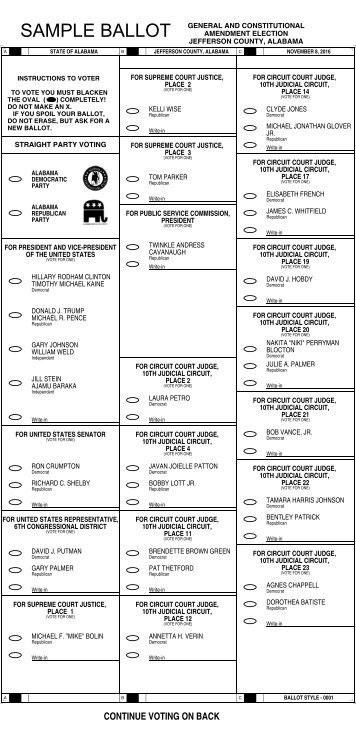 Sample Ballot - Harris Votes