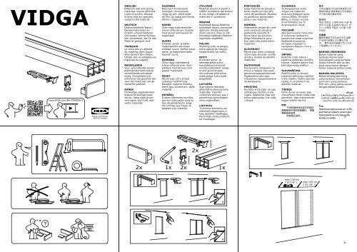 ikea vidga s99166402 assembly instructions. Black Bedroom Furniture Sets. Home Design Ideas