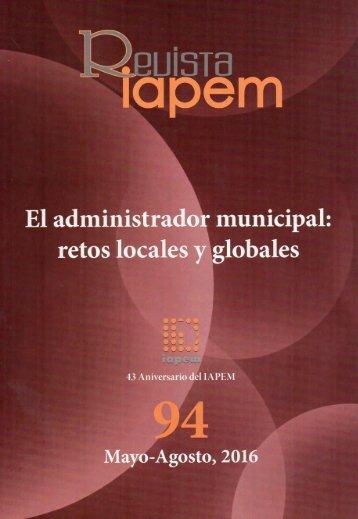 El Administrador Municipal retos locales y globales
