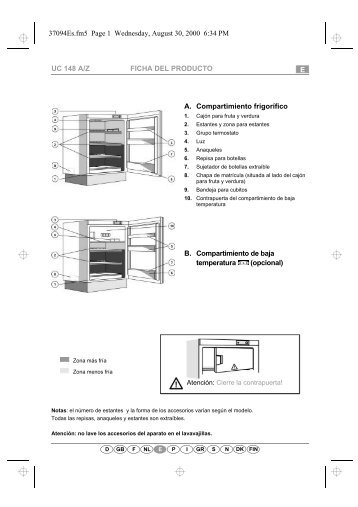 KitchenAid UVI 1302/A - Refrigerator - UVI 1302/A - Refrigerator ES (855004701330) Scheda programmi