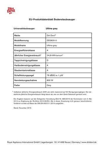 Dirt Devil Dirt Devil Bagless Vacuum Cleaner - DD2620-3 - Manual (Multilingue)