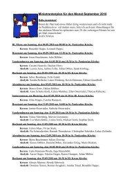 Ministrantenplan für den Monat September 2010 - ministranten ...