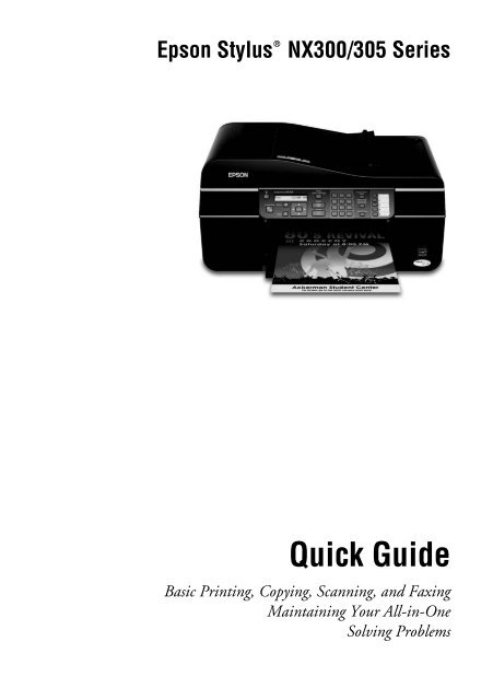 epson epson stylus nx300 all in one printer manual and user guide rh manualsmania com Epson Stylus CX6600 Manual Epson Stylus NX400