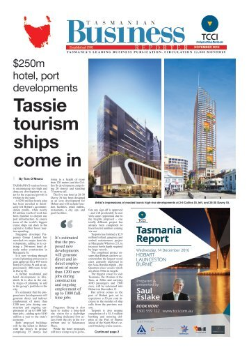 Tasmanian Business Reporter November 2016