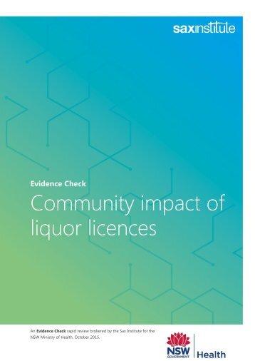 liquor licences