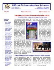 ABŞ-nyň Türkmenistandaky Ilçihanasy
