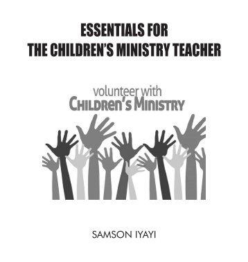 Essentials for the Children's Minstry Teacher