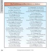Erworbene Fortbildungszertifikate - Ärztekammer Schleswig-Holstein