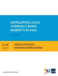 DEVELOPING LOCAL CURRENCY BOND MARKETS IN ASIA
