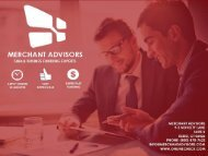 We Are Small Business Funding Experts. We Are Merchant Advisors!