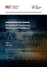 Blockchain & Transactions Markets and Marketplaces