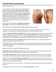 Cellulite Removal Remedies
